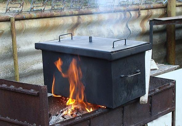 Коптильни горячего копчения фото